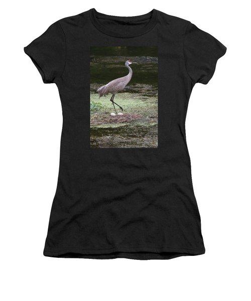 Sandhill Crane And Eggs Women's T-Shirt
