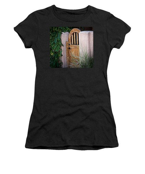 Women's T-Shirt (Junior Cut) featuring the photograph Santa Fe Gate by Patrice Zinck