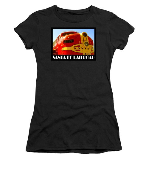 Santa Fe Railroad Color Poster Women's T-Shirt