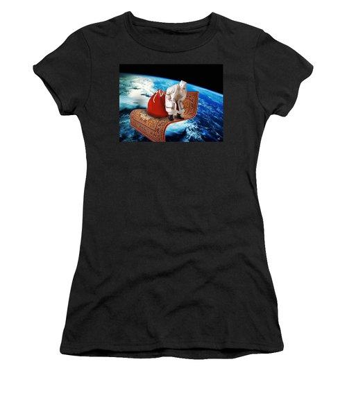 Santa's Flying Carpet Women's T-Shirt