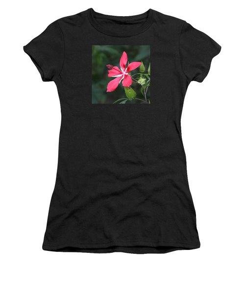 Scarlet Hibiscus #3 Women's T-Shirt (Athletic Fit)