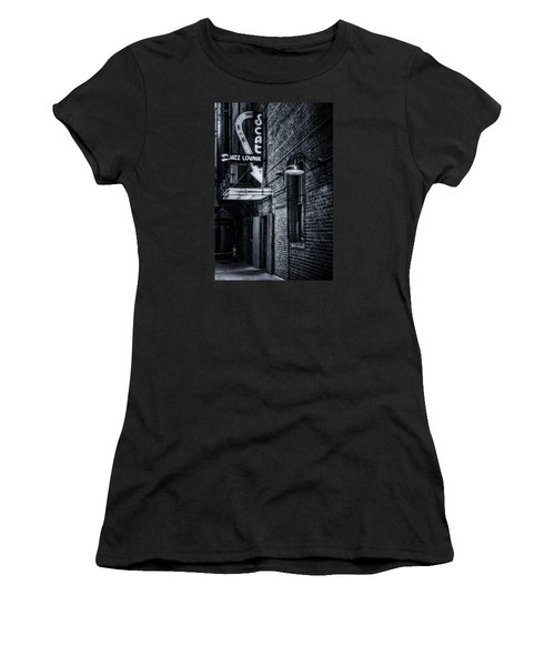 Scat Lounge In Cool Black And White Women's T-Shirt (Junior Cut) by Joan Carroll