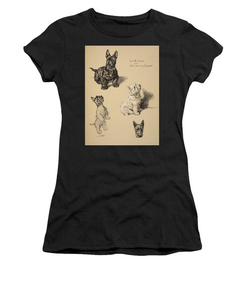 Scotch Terrier And White Westie Women's T-Shirt