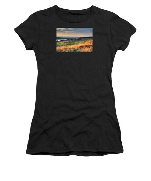 Scottish Style Links In September - Chambers Bay Golf Course Women's T-Shirt (Athletic Fit)