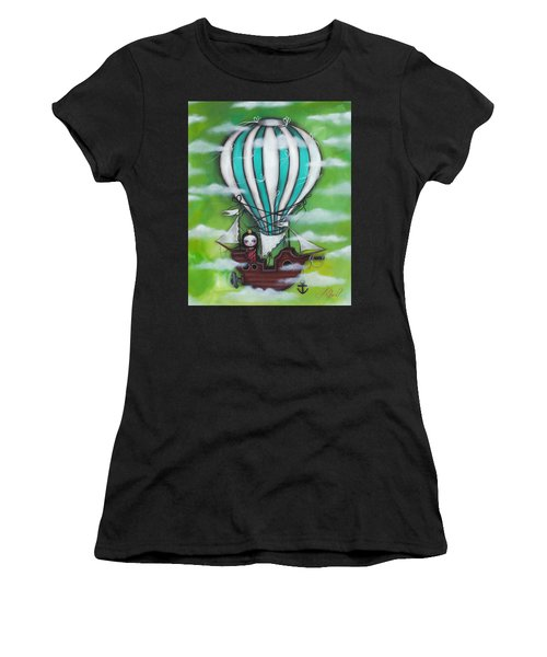 Sea Of Clouds Women's T-Shirt (Junior Cut) by Abril Andrade Griffith