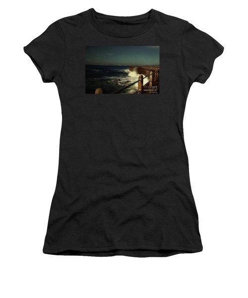 Sea Wall At Night Women's T-Shirt