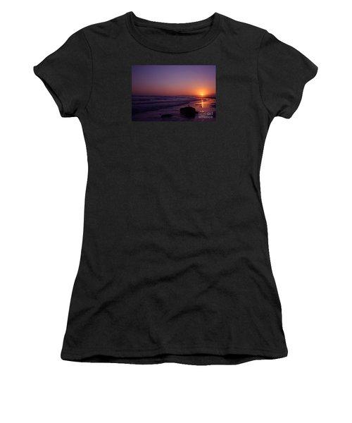 Seagull Watching The Sunset Carpinteria State Beach Women's T-Shirt (Junior Cut) by Ian Donley