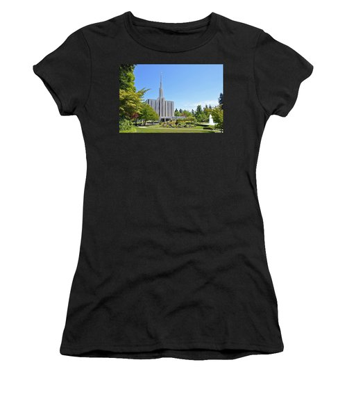 Seattle Temple - Horizontal Women's T-Shirt (Athletic Fit)