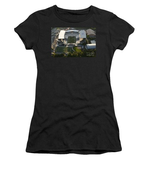 Seattle With Aerial View Of The Newly Renovated Husky Stadium Women's T-Shirt (Athletic Fit)
