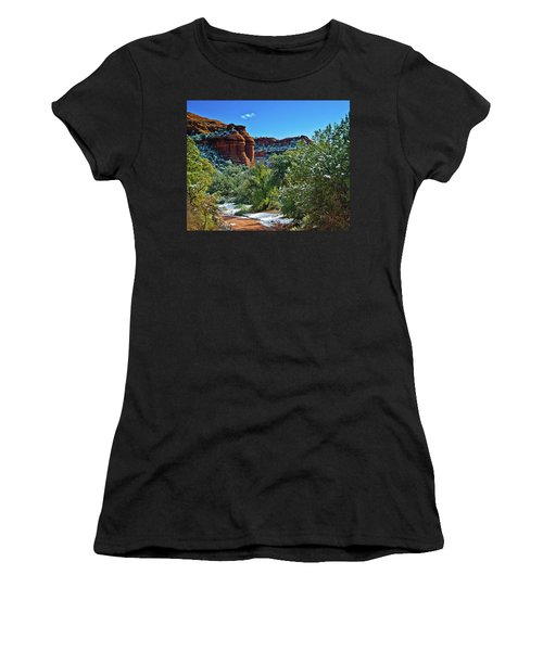 Women's T-Shirt (Junior Cut) featuring the photograph Sedona Arizona - Wilderness Area by Bob and Nadine Johnston