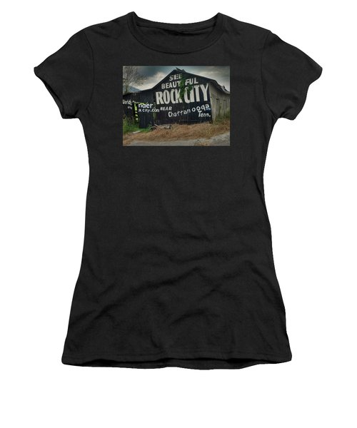 See Rock City Barn Women's T-Shirt (Athletic Fit)