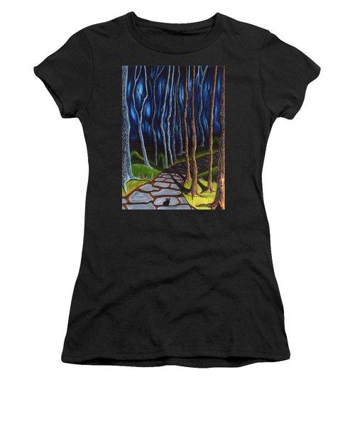 Seeking A Shadow  Women's T-Shirt (Athletic Fit)