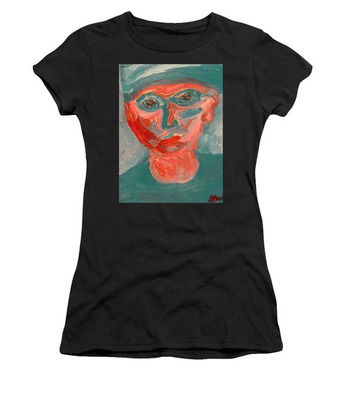 Self Portrait In Turquoise And Rose Women's T-Shirt