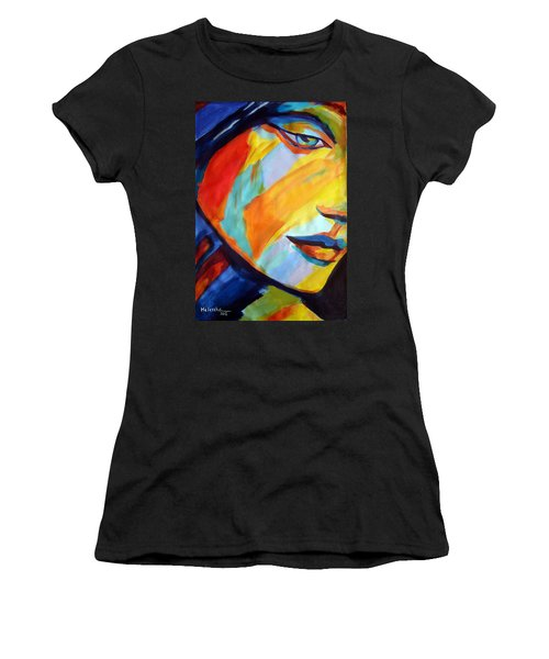 Women's T-Shirt (Junior Cut) featuring the painting Sentiment by Helena Wierzbicki