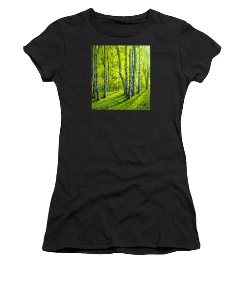 September In The Woods Women's T-Shirt (Athletic Fit)