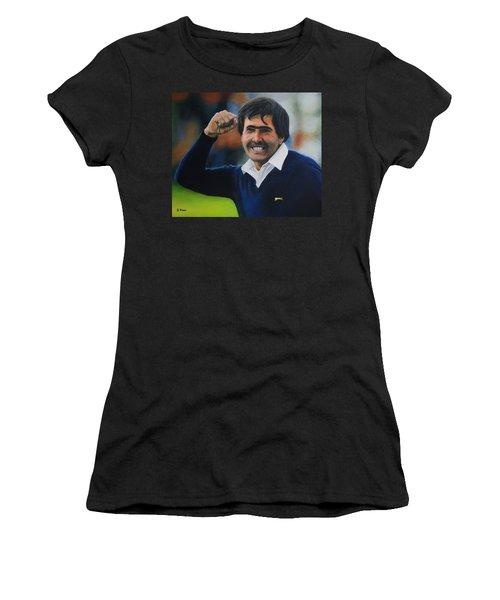 Seve Ballesteros Oil On Canvas Women's T-Shirt (Athletic Fit)