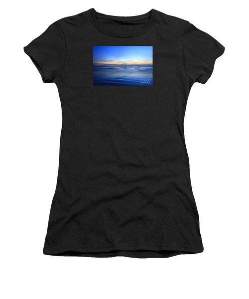 Rocks In Surf Canvas 30x40 Print On Sale Carlsbad Women's T-Shirt