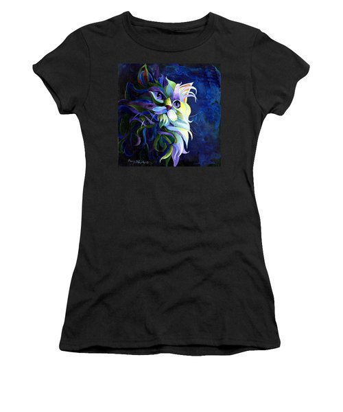 Shadow Puss Women's T-Shirt (Junior Cut) by Sherry Shipley