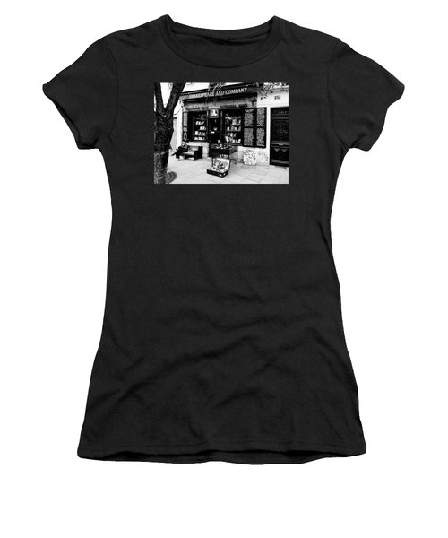 Shakespeare And Company Boookstore In Paris France Women's T-Shirt (Junior Cut) by Richard Rosenshein