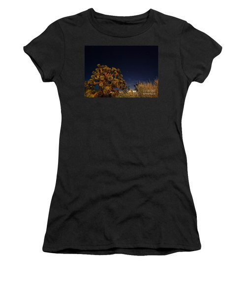 Women's T-Shirt (Junior Cut) featuring the photograph Sharing The Land by Angela J Wright