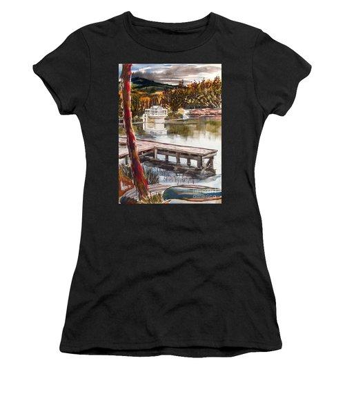 Shepherd Mountain Lake In Twilight Women's T-Shirt (Athletic Fit)