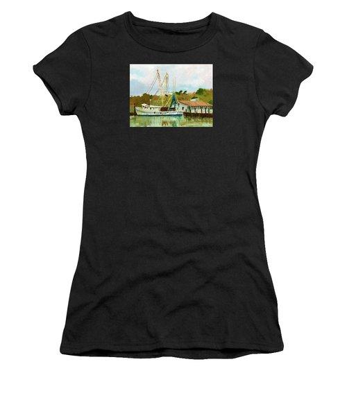 Shrimp Boat At Dock Women's T-Shirt