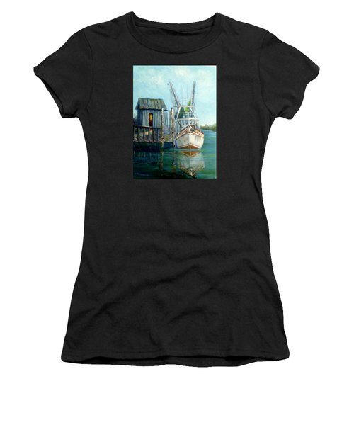 Shrimp Boat Paintings Women's T-Shirt