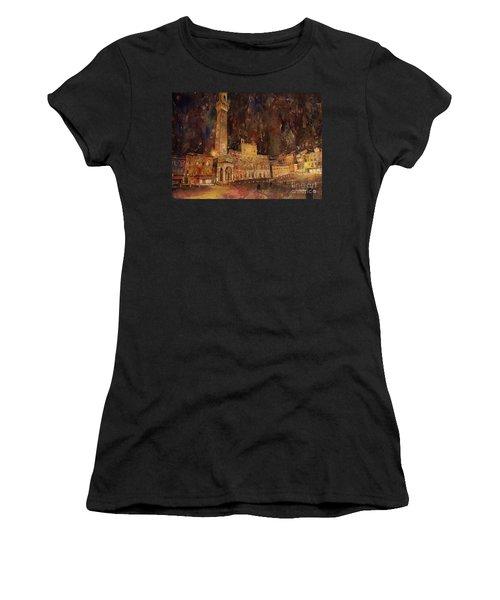 Siena Sunset Women's T-Shirt (Junior Cut) by Ryan Fox