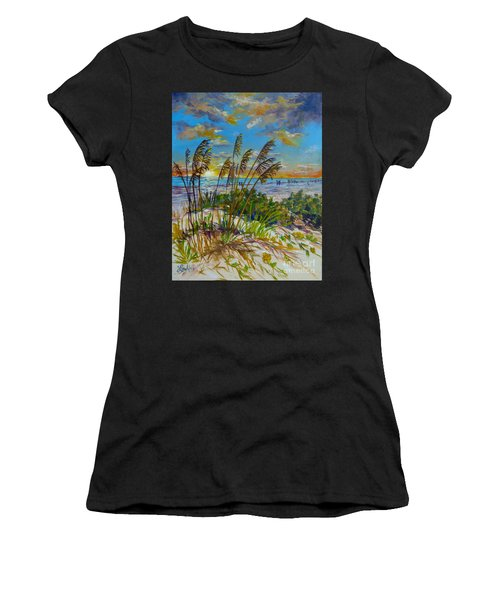 Siesta Beach Sunset Dunes Women's T-Shirt (Athletic Fit)