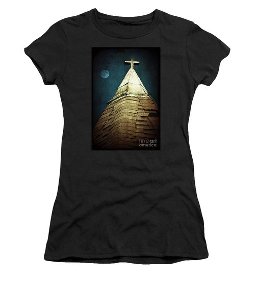 Silent Night Women's T-Shirt (Junior Cut) by Trish Mistric