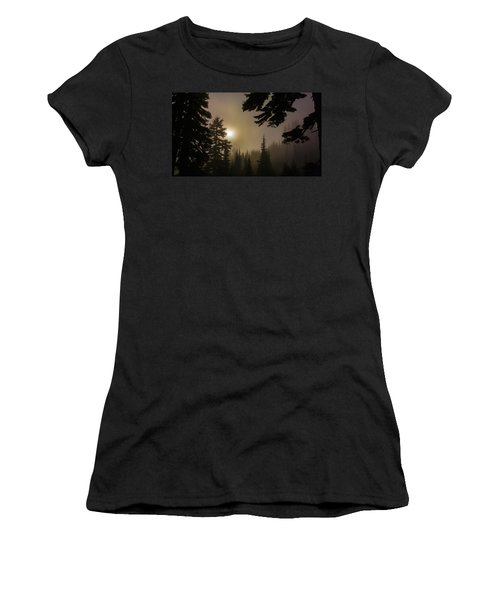 Silhouettes Of Trees On Mt Rainier II Women's T-Shirt