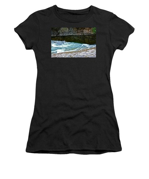 Women's T-Shirt (Junior Cut) featuring the photograph Silky Flow by Linda Bianic