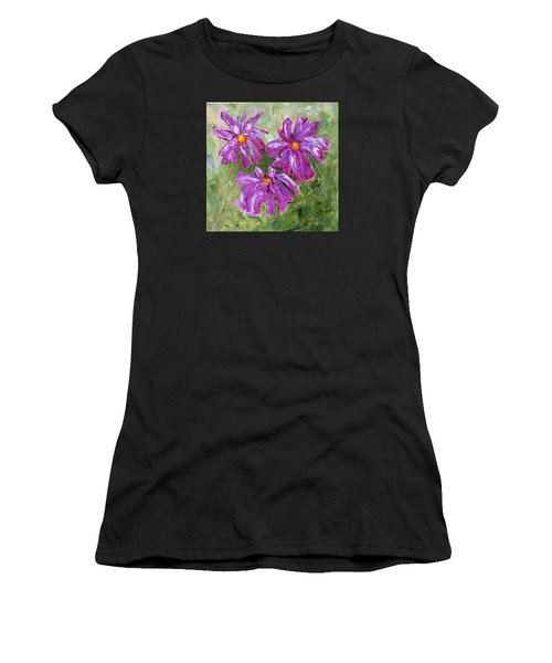 Simple Flowers Women's T-Shirt (Athletic Fit)