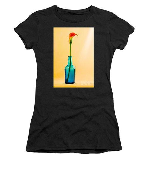 Single Calla In Blue Bottle Women's T-Shirt