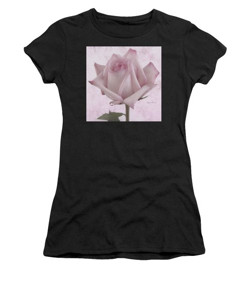 Single Pink Rose Blossom Women's T-Shirt (Athletic Fit)