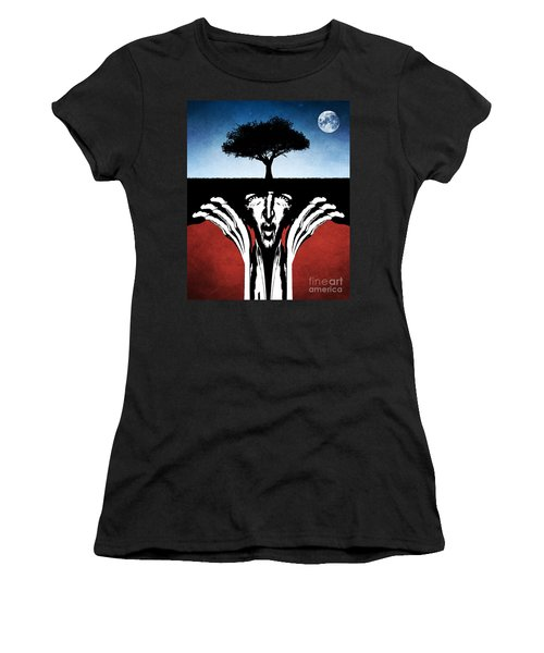 Women's T-Shirt (Junior Cut) featuring the digital art Sir Real by Phil Perkins