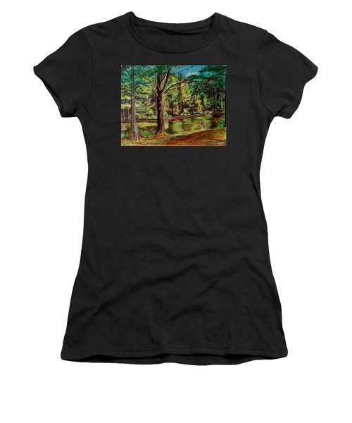 Sisters At Wason Pond Women's T-Shirt (Athletic Fit)
