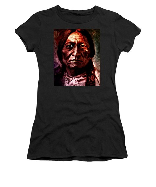 Sitting Bull - Warrior - Medicine Man Women's T-Shirt (Athletic Fit)