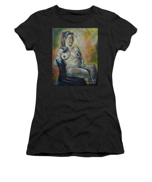 Sitting Nude Women's T-Shirt