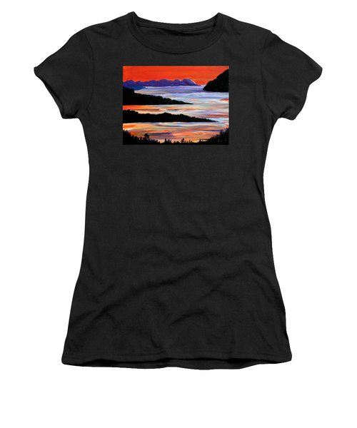 Sitting Seaside Women's T-Shirt (Athletic Fit)
