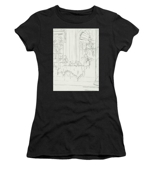 Sketch Of A Formal Dining Room Women's T-Shirt