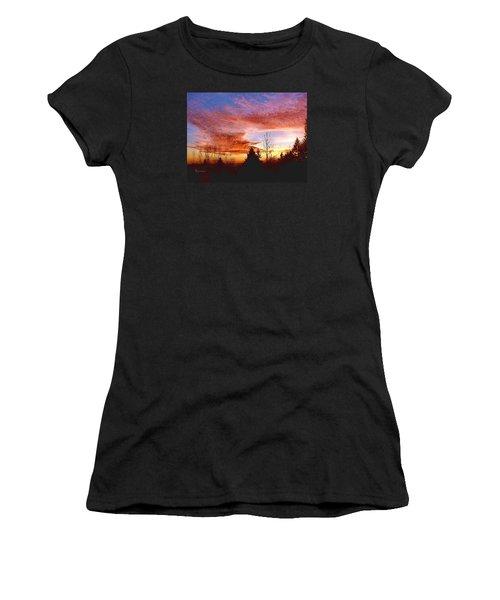 Skies Ablaze Women's T-Shirt (Junior Cut) by Sadie Reneau
