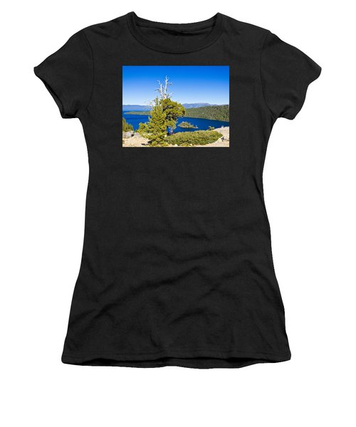 Sky Blue Water - Emerald Bay - Lake Tahoe Women's T-Shirt (Athletic Fit)