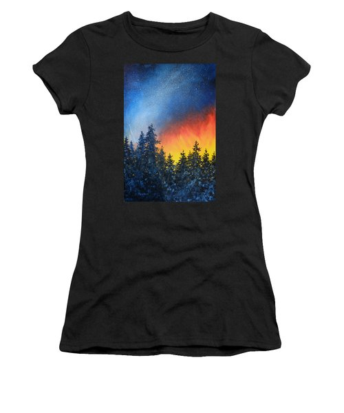 Sky Fire Women's T-Shirt (Athletic Fit)