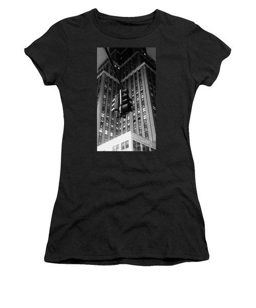 Skyscraper Framed Traffic Light Women's T-Shirt (Athletic Fit)