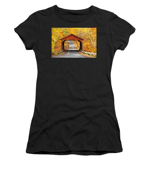 Sleeping Bear National Lakeshore Covered Bridge Women's T-Shirt (Athletic Fit)