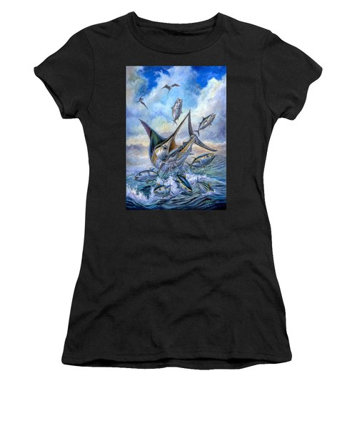 Small Tuna And Blue Marlin Jumping Women's T-Shirt