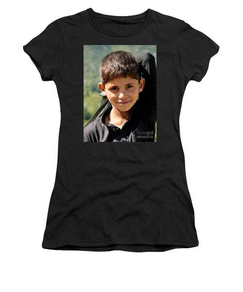 Smiling Boy In The Swat Valley - Pakistan Women's T-Shirt