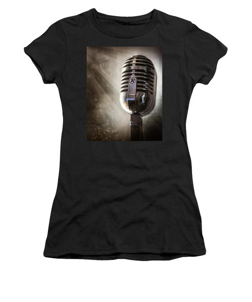 Smoky Vintage Microphone Women's T-Shirt