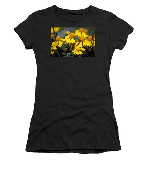 Women's T-Shirt (Junior Cut) featuring the photograph Sneezeweed by Ester  Rogers